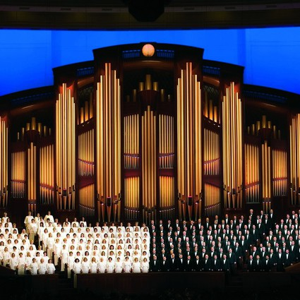 Mormon Tabernacle Choir in the Conference Center in Salt Lake City.